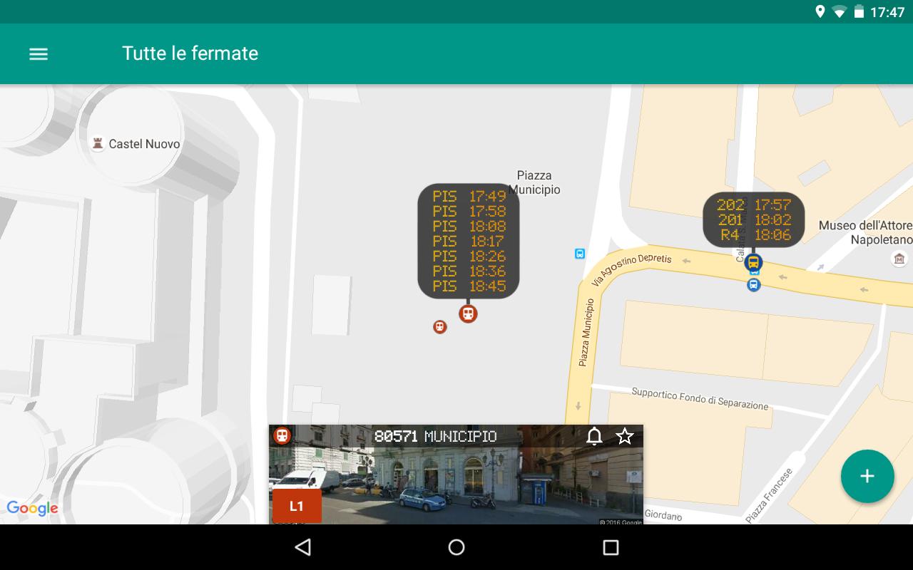 gira napoli trasporto pubblico app android su google play. Black Bedroom Furniture Sets. Home Design Ideas