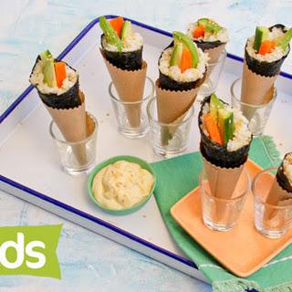 Easy Sushi Cones.