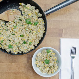 Roasted Chicken, Corn and Hominy Skillet