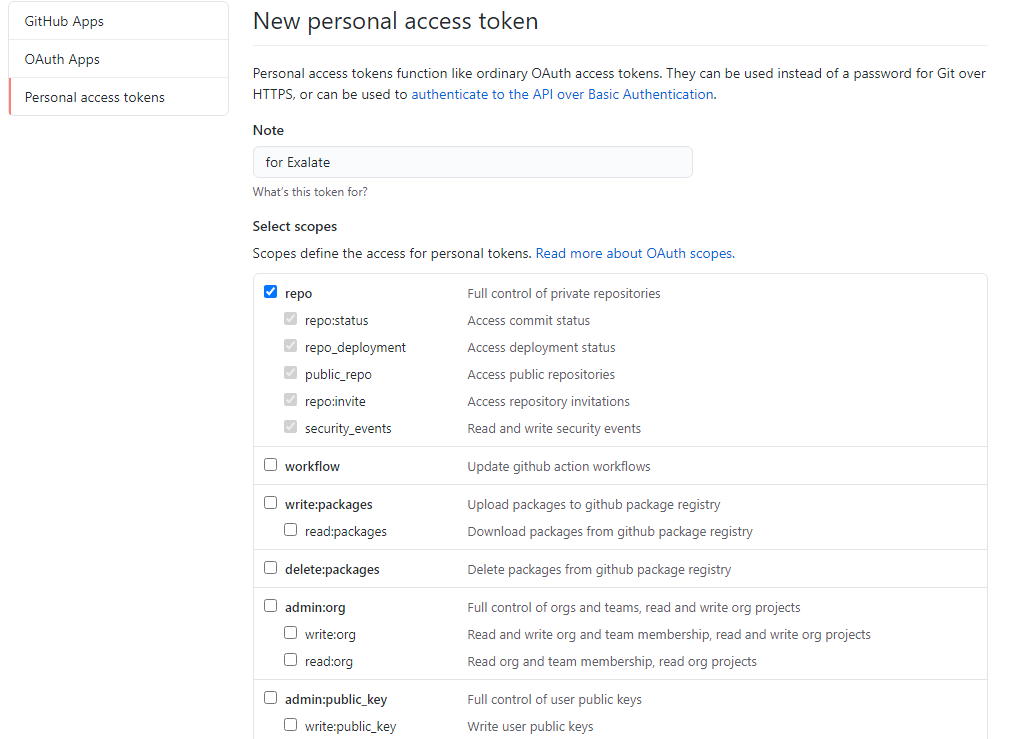create an exalate access token