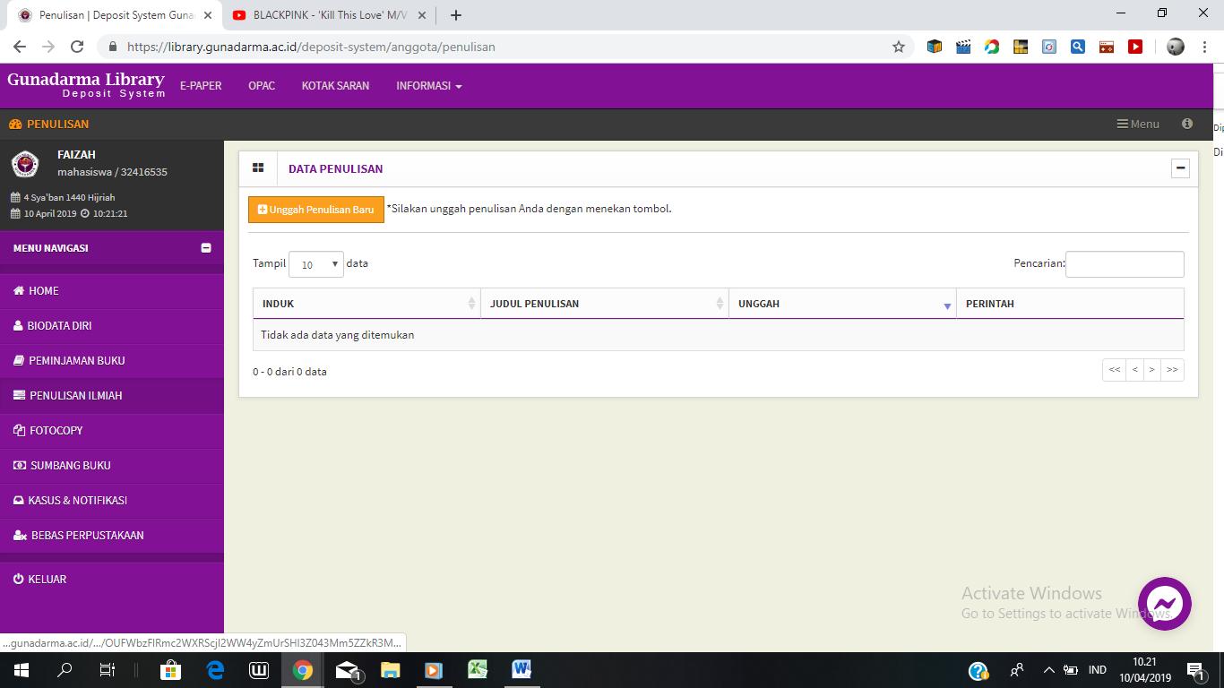 Tata Cara Upload File Pi Dan Skripsi Perpustakaan Ug