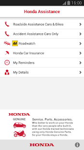 Honda Breakdown Assistance- screenshot thumbnail