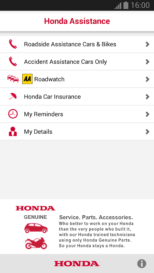 Honda Breakdown Assistance- screenshot