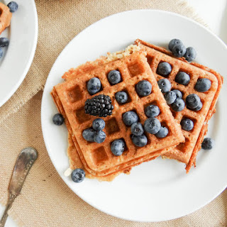 Crispy Whole Grain Vegan Belgian Waffles