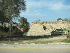 Photo: City walls and dry moat of Caesaria (built by French crusaders)