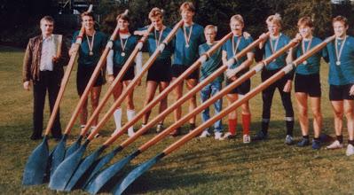 Photo: 1984 Odense Roklub blev meget overraskende dansk mester i senior-otter. Favoritterne fra de københavnske roklubber satsede på at vinde flere løb på samme dag. Det kostede kræfter og der var således ikke nok til at slå Odense-roerne.