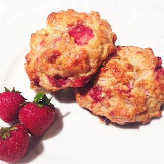Moist Strawberry & Cream Scones!