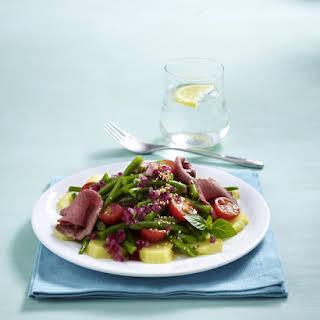 Mint, Bean and Roast Beef Salad.