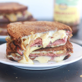 Pastrami and Caramelized Onion Grilled Cheese..