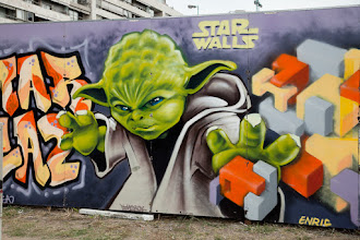 """Photo: #StreetArtSunday post of the week - """"Star Walls"""" in Buenos Aires, Argentina.  This was one of the largest permission walls I've ever seen. Graffiti covered wooden panels wrapped around a large construction site.  South America seems to have a very liberal view of Street Art compared to America and even Europe - you see it EVERYWHERE. Asia probably has the least street art of any placeI've been to.  cc +Luís Pedro +Mark Seymour   #StreetArt #starwars"""