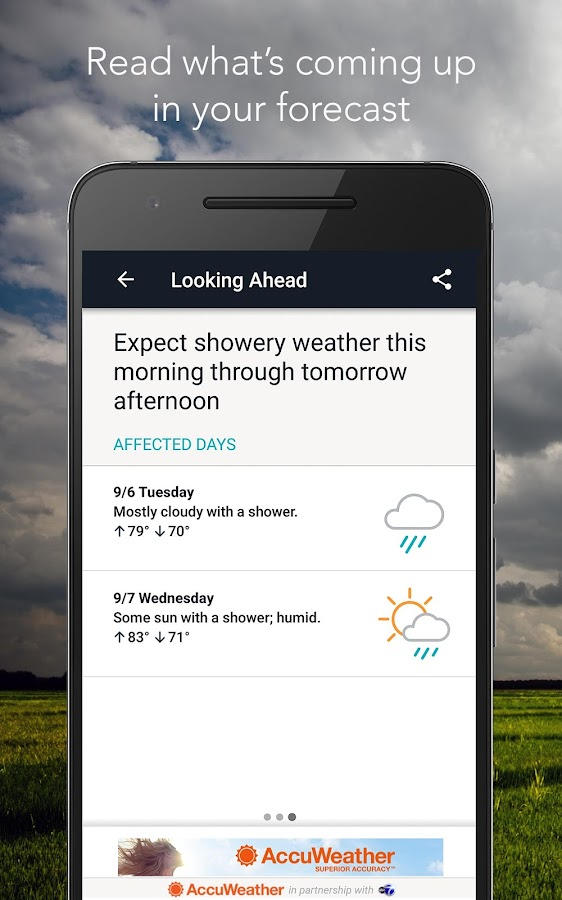 Accuweather Widget not updating