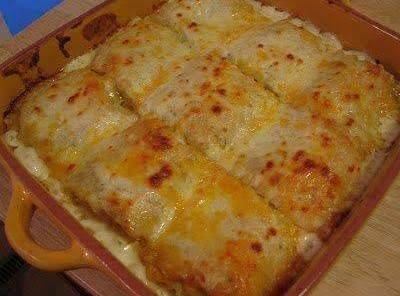 Chicken Alfredo Lasagna Rolls Recipe