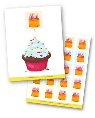 Instant Party Toolkit Cupcake Toppers