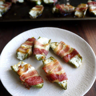 Goat Cheese-Stuffed, Bacon-Wrapped Jalapenos.