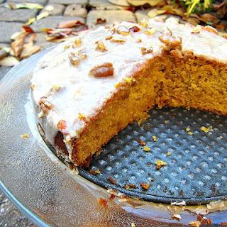 Butternut Squash Cake w/ Cinnamon Glaze