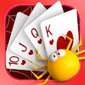 Happy spider poker icon
