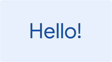 """A light blue background with dark blue text shows """"Hello"""" translated in many different languages."""
