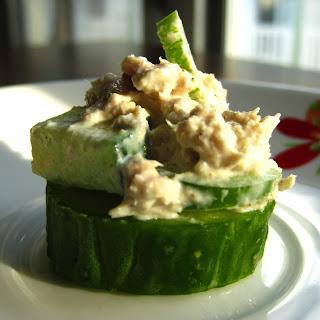 Tuna & Cucumber Bites.