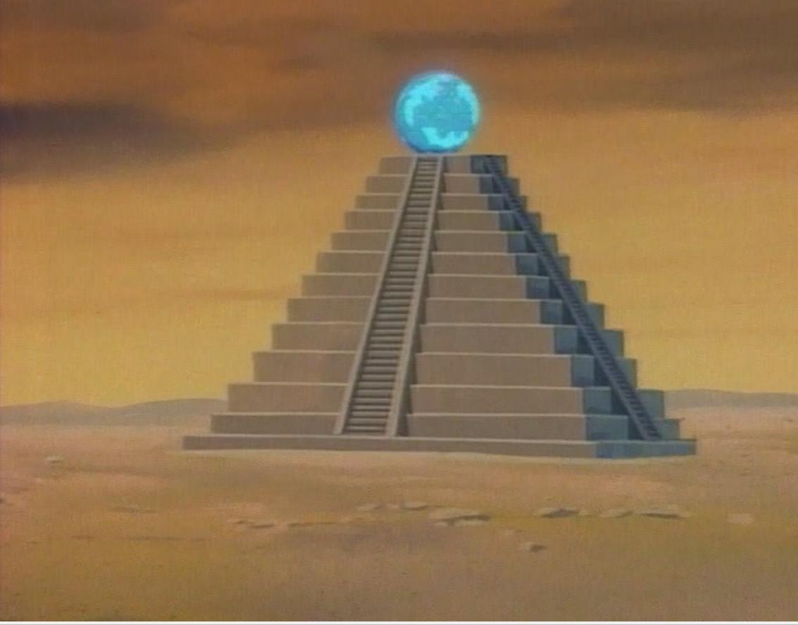 Ziggurat surmounted by the Crystal of Chronos