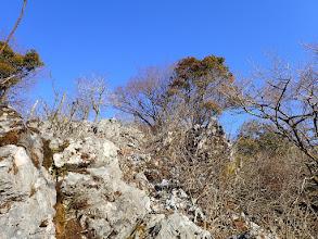 石灰岩の滑りやすい道