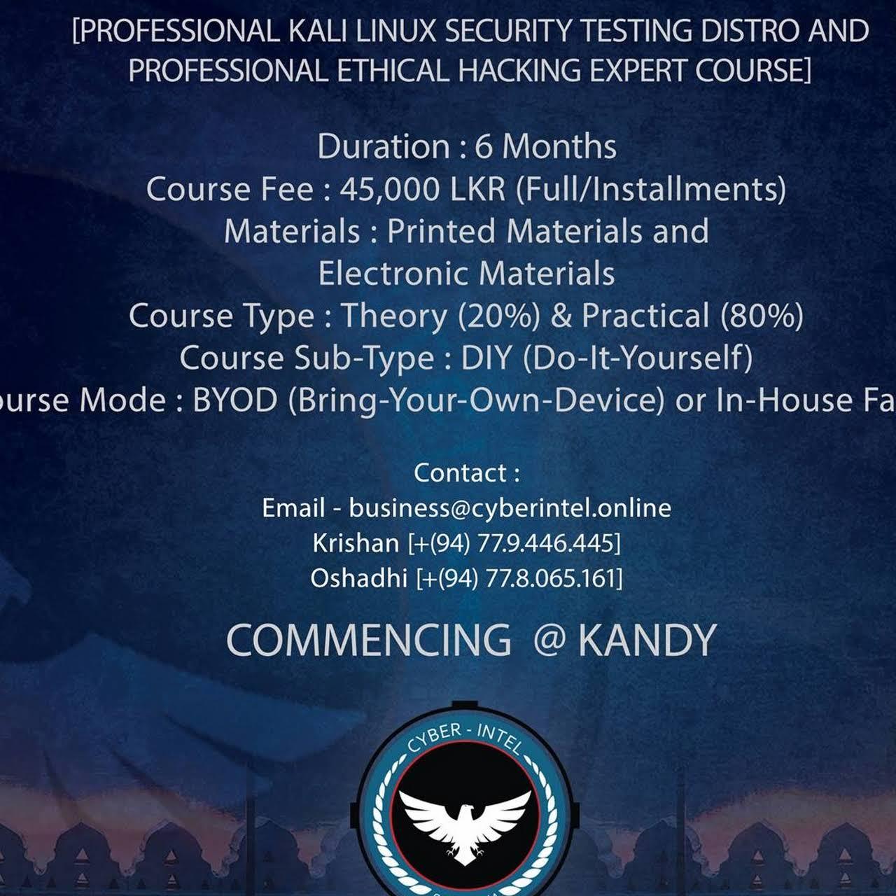 Cyber-Intel Online (Pvt) Ltd - Educational Consultant