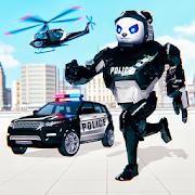 Police Panda Robot Transformation: Robot Shooting