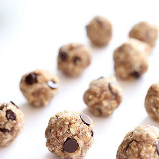 Coconut Oatmeal Chocolate Chip Cookie Dough Energy Balls Recipe