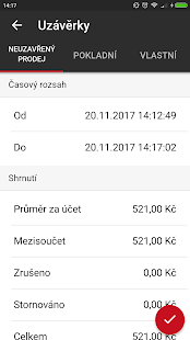 EET pokladna zdarma KASAmax Mobile - náhled