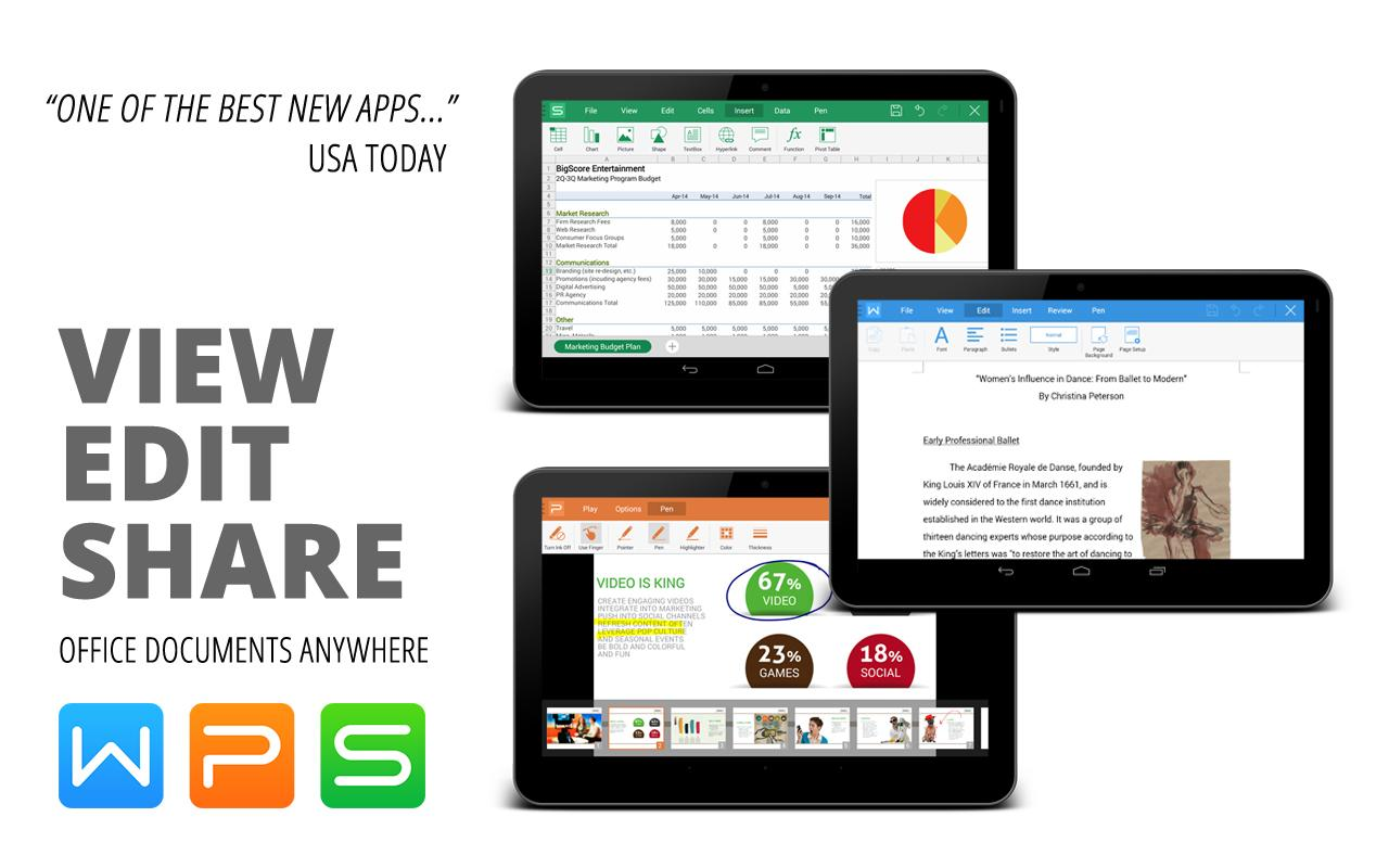 WPS Office + PDF - screenshot
