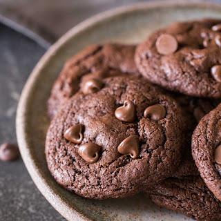 One Bowl Triple Chocolate Brownie Cookies