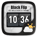 Black Flip GO Weather Widget icon