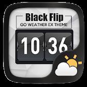 Black Flip GO Weather Widget