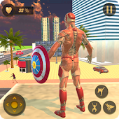 Unduh Superhero Captain Robot Terbang New York City War Gratis
