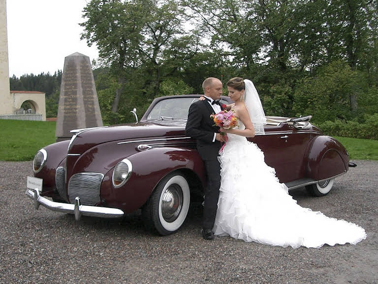 Lincoln Zephyr Convertible Coupe Hire Stockholm