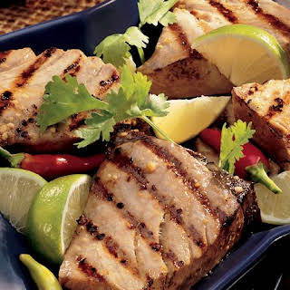 Grilled Ginger-Lime Tuna Steaks.