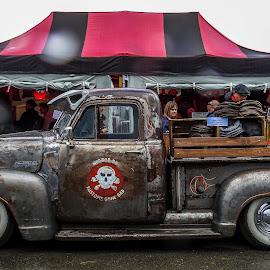 V8 Market Stall by Scott Hay - Transportation Automobiles ( badass, '58, pick-up, chevrolet, market stand, step-side, santa pod )