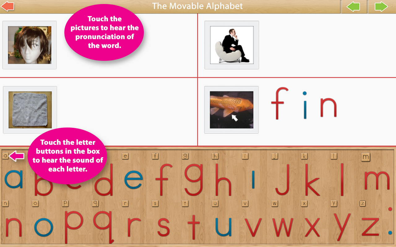 Montessori Movable Alphabet- screenshot