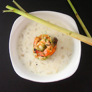 Coconut Corn Chowder with Lemongrass Shrimp Recipe