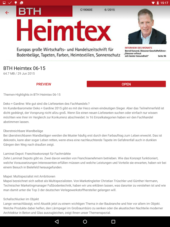 BTH-Heimtex – Screenshot