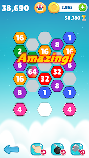 Make 64 - Hexa Match Puzzle Game - náhled