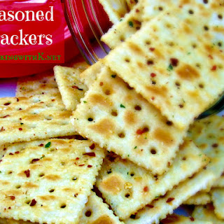 Red Pepper Flake Seasoned Crackers.