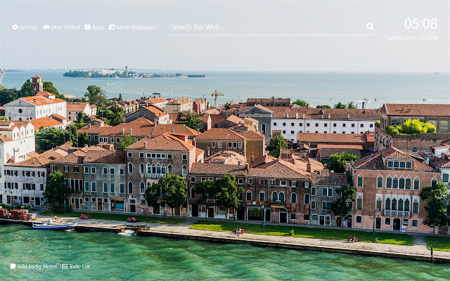 Canals of Venice Wallpaper HD New Tab Theme
