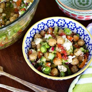 Chickpea and Feta PIcnic Salad