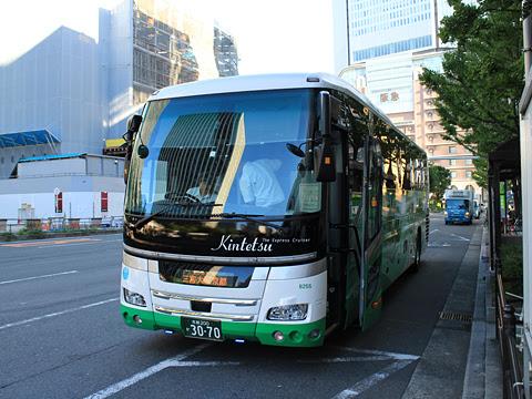 近鉄バス「おひさま号」 8255 大阪駅前(地下鉄東梅田駅)到着