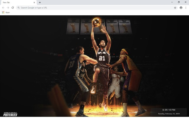 Tim Duncan New Tab & Wallpapers Collection