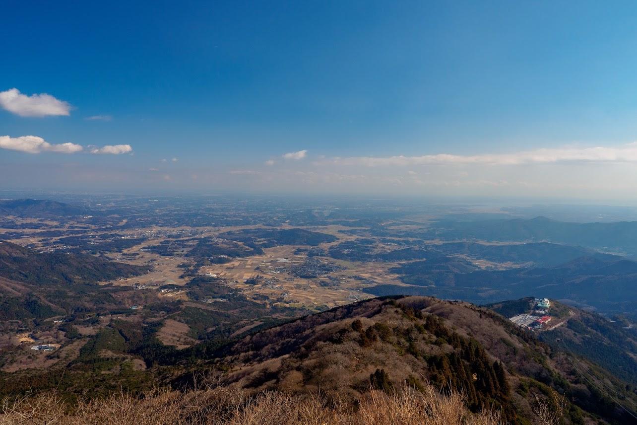 女体山山頂からの眺望。