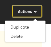 The Actions drop-down in an RSS-to-Email Rule.