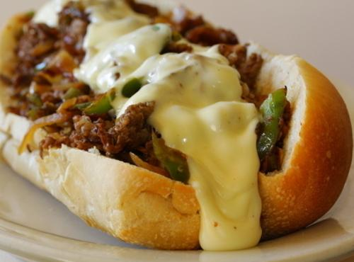 Cheesy Cheesesteak With Peppers Recipe