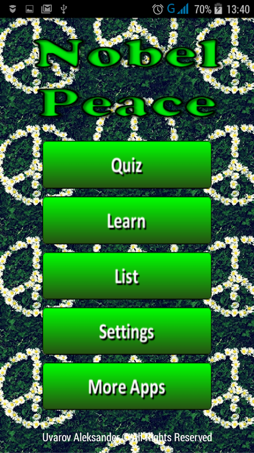 Nobel Peace- screenshot