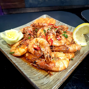 Shrimp with chilli garlic and ginger sauce